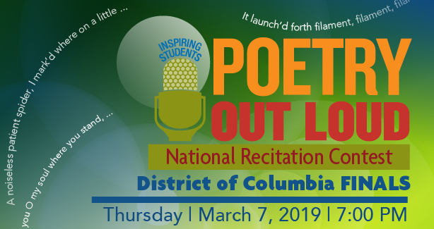 2019 Poetry Out Loud - District of Columbia Finals