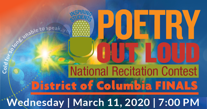 2020 Poetry Out Loud DC Finals Image
