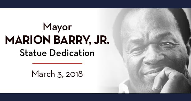Mayor Marion Barry, Jr. Statue Dedication