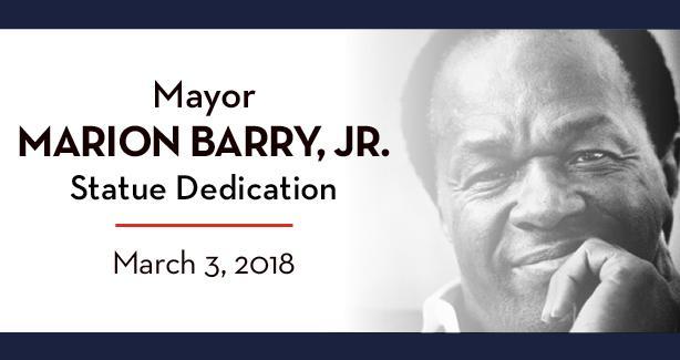 Mayor Marion Barry, Jr. Statue Dedication