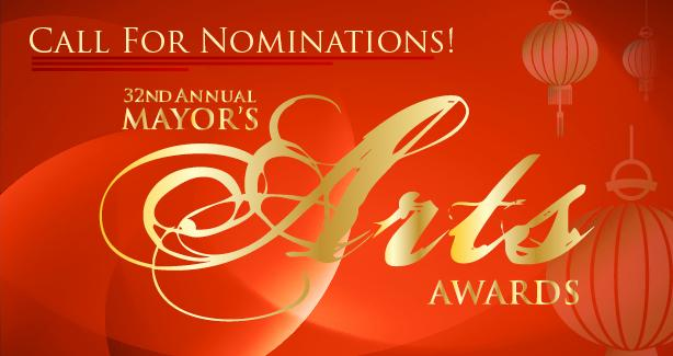 Call for Nominations: 32nd Annual Mayor's Arts Awards